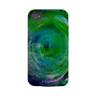 Ágata verde del remolino iPhone 4 carcasa
