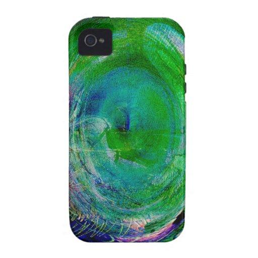 Ágata verde del remolino iPhone 4/4S carcasa