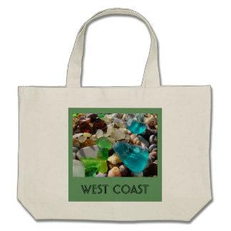Ágatas del vidrio del mar de la costa de la playa bolsa de mano
