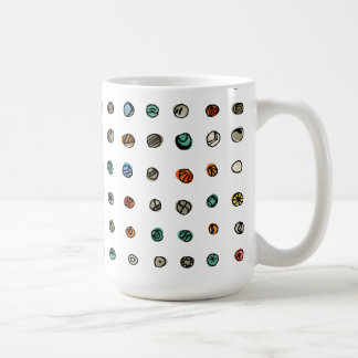Ágatas imaginarias en blanco tazas de café