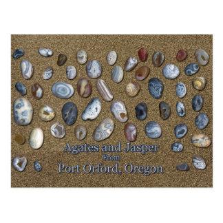Ágatas y jaspe del puerto Orford Oregon Postal