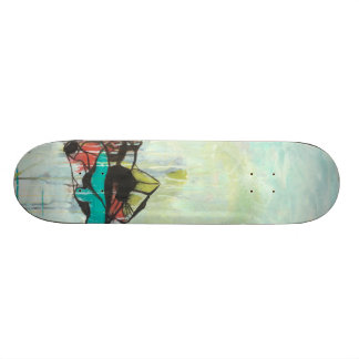 Agate - abstract expressionism skateboard