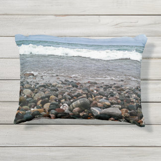 Agate beach 1 outdoor pillow