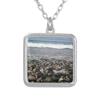 Agate beach 1 silver plated necklace