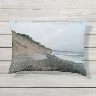 Agate beach 2 outdoor pillow