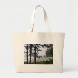 AGATE BEACH by SHARON SHARPE Large Tote Bag