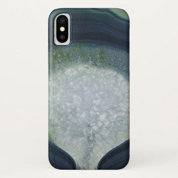 Agate bleu/vert iPhone x case
