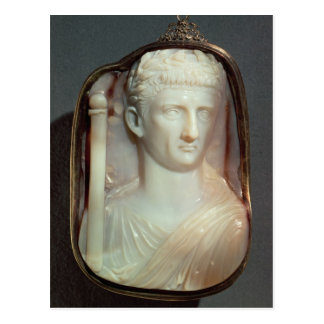 Agate Cameo bearing the portrait of Claudius Postcard