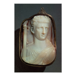 Agate Cameo bearing the portrait of Claudius Poster