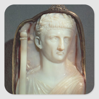 Agate Cameo bearing the portrait of Claudius Square Sticker