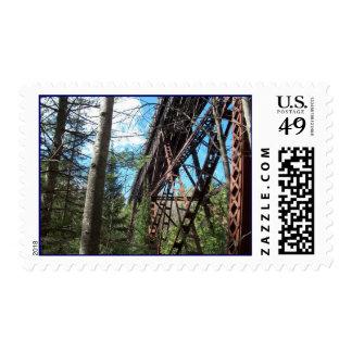 Agate Falls Old Soo RR Trestle Bridge UP MI Stamps