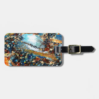 Agate Geode Abstract Bag Tag