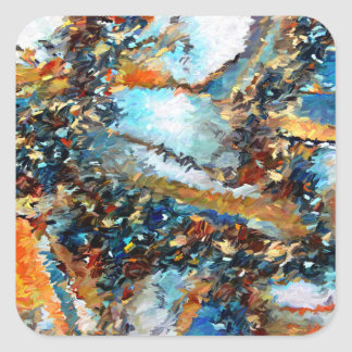 Agate Geode Abstract Square Sticker
