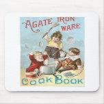 Agate Iron Ware Vintage Cookbook Ad Art Mouse Pad