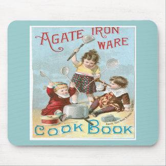 Agate Iron Ware Vintage Cookbook Ad Art Mousepad