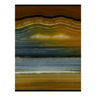 Agate Mineral Abstract Art Print on Canvas - Beaut
