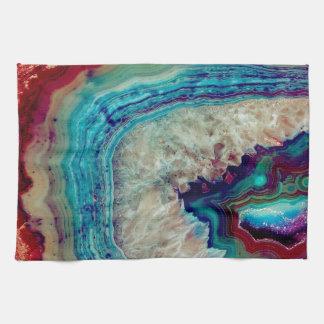 Agate multicolor towel