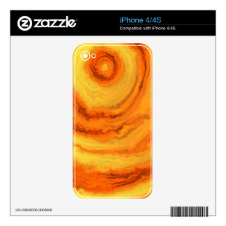 AGATE ORANGE & GOLD SKINS FOR iPhone 4