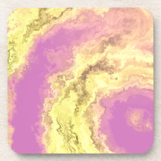 AGATE PINK & GOLD BEVERAGE COASTERS