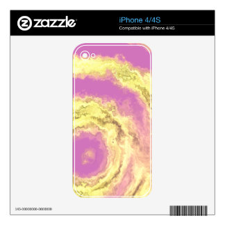 AGATE PINK & GOLD SKIN FOR iPhone 4S