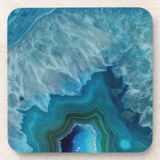 Agate stone Geode druse mineral Beverage Coaster