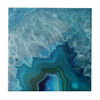 Agate stone Geode druse mineral Ceramic Tile