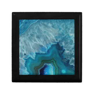 Agate stone Geode druse mineral Gift Box