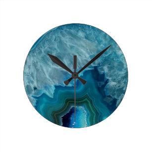 Agate Wall Clocks Zazzle