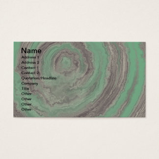 AGATE TEAL & GREY BUSINESS CARD
