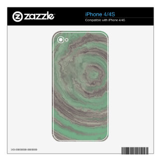 AGATE TEAL & GREY iPhone 4S SKIN