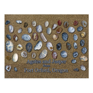 Agates and Jasper from Port Orford Oregon Postcard