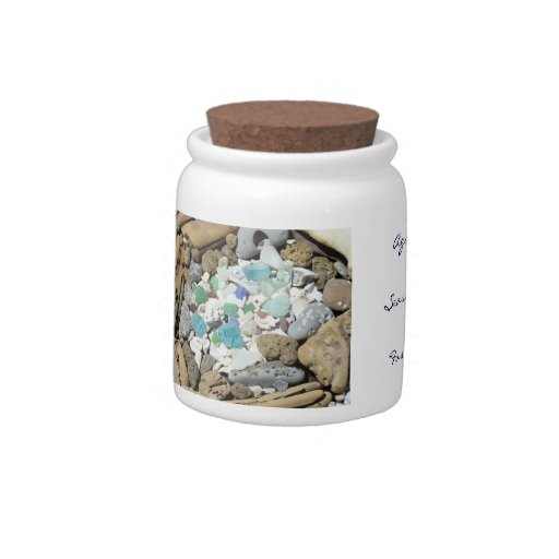 Agates jars Fossils Seashells collection jars gift Candy Dishes