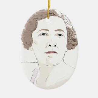 Agatha Christie Ceramic Ornament