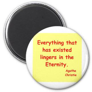 agatha christie eternity 2 inch round magnet