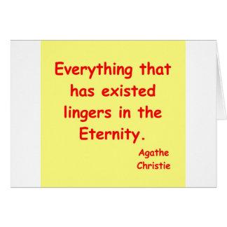 agatha christie eternity greeting card