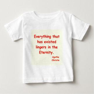 agatha christie eternity infant t-shirt