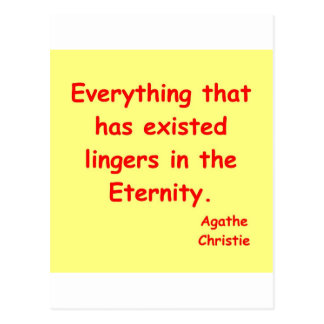 agatha christie eternity postcard