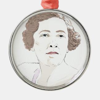 Agatha Christie Metal Ornament
