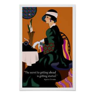 Agatha Christie Motivational Poster