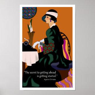 Agatha Christie Motivational Poster