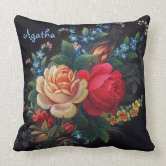 Agatha Victorian Bouquet Throw Pillow