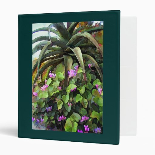Agave and African Violets 3 Ring Binder