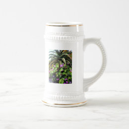 Agave and African Violets Beer Stein