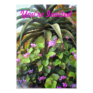 Agave and African Violets Custom Invites