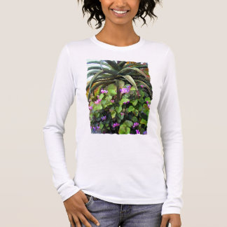 Agave and African Violets Long Sleeve T-Shirt