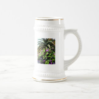 Agave and African Violets 18 Oz Beer Stein