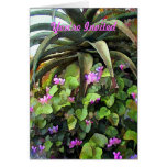Agave and African Violets You're Invited Greeting Card