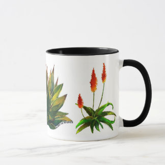 Agave and aloes coffee mug