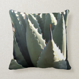 Agave and but cactus throw pillow