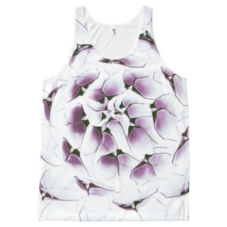 Agave Cactus All-Over Printed Unisex Tank, S All-Over Print Tank Top